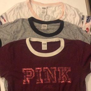 Victorias Secret PINK T-Shirt Bundle